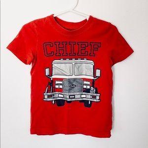 Carter's 2T Boys Firetruck Short Sleeve Shirt